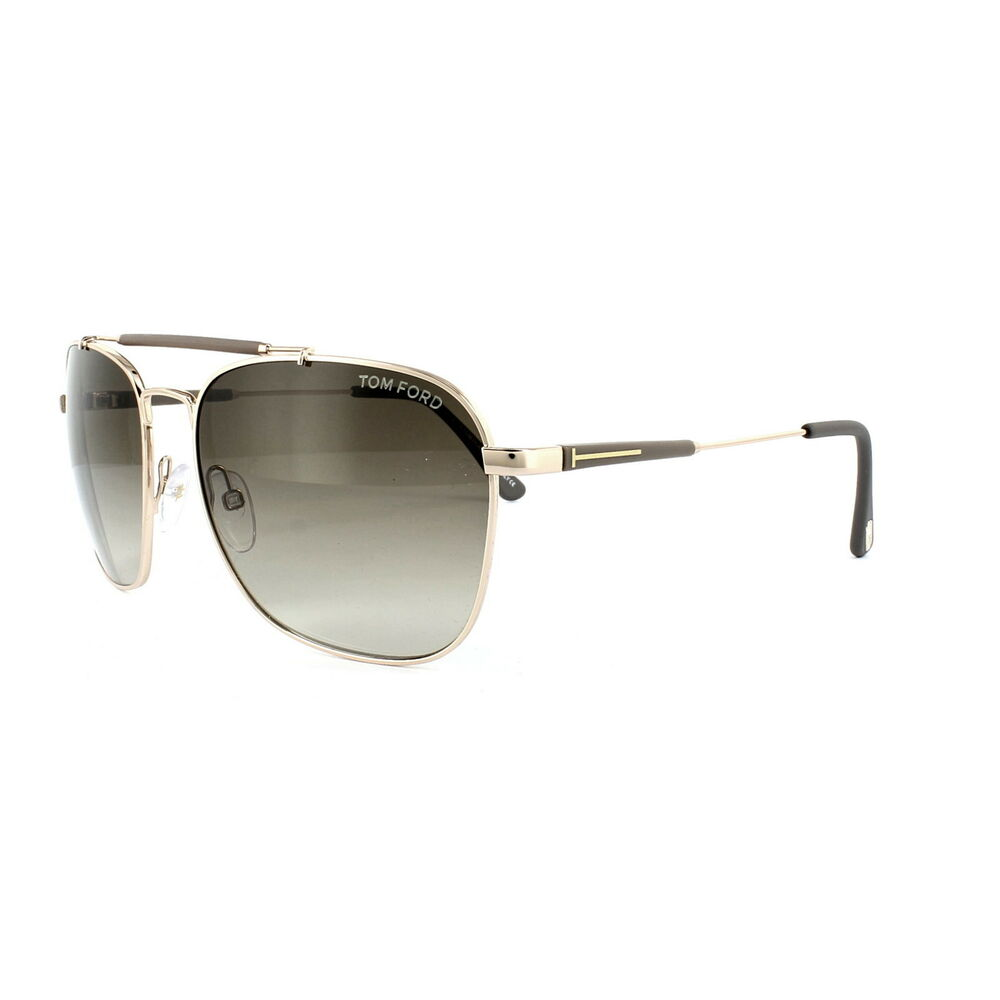 8d20c001523 Details about Tom Ford Sunglasses FT0377 Edward 28K Shiny Rose Gold Brown  Gradient Roviex 60mm