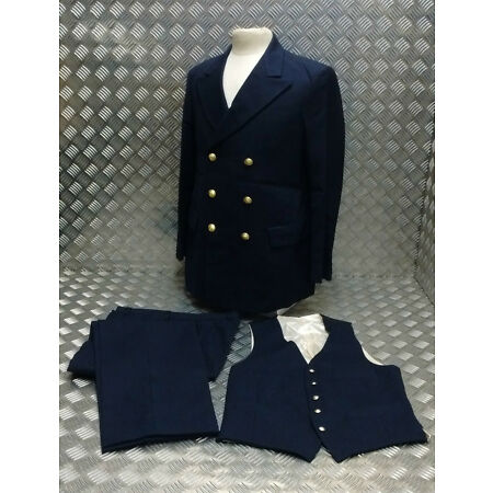 img-Genuine Military Naval Standard Dress Waistcoat With Metal Anchor Buttons - NEW