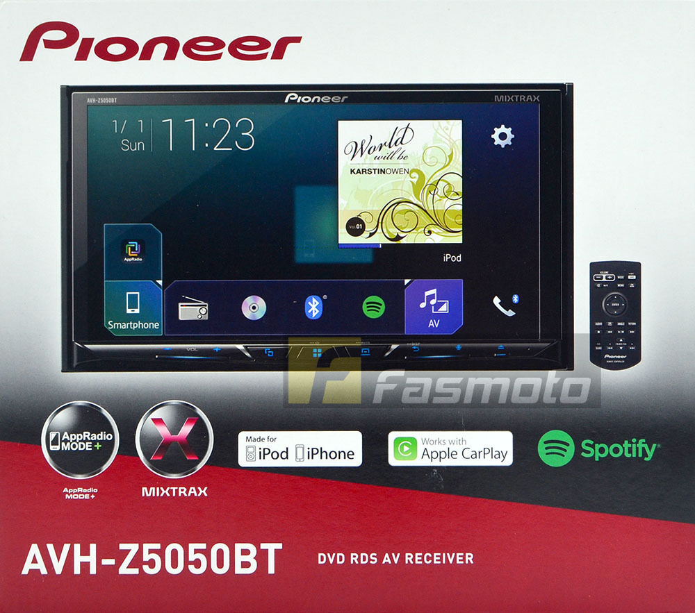 pioneer avh z5050bt 7 apple carplay android auto appradio. Black Bedroom Furniture Sets. Home Design Ideas