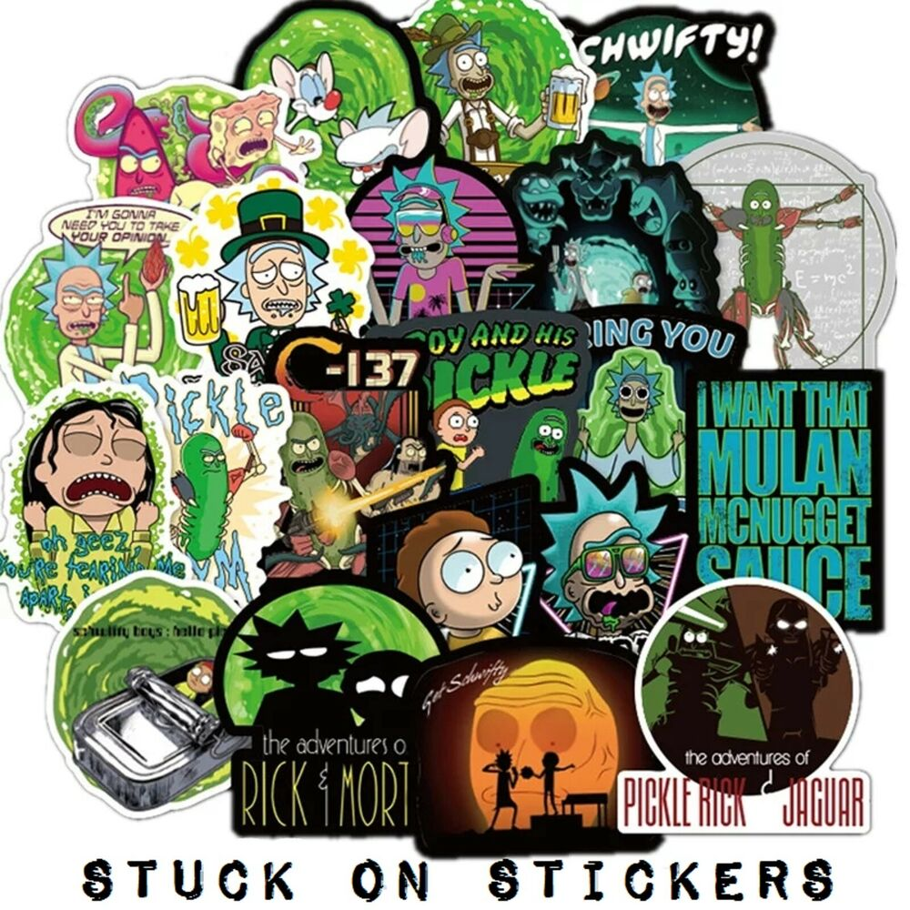 Rick and morty stickers 10 pcs mixed stickerbomb cartoon for Rick and morty craft list