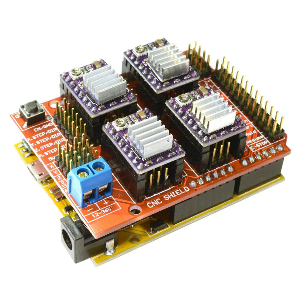 cnc v3 shield uno r3 for arduino compatible board 4x. Black Bedroom Furniture Sets. Home Design Ideas