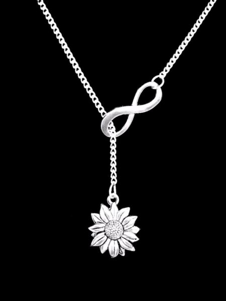 Necklace Daisy Sunflower Lariat Flower Nature Friend Christmas Gift
