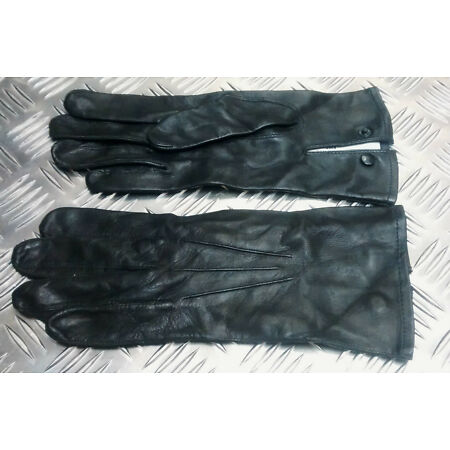 img-Genuine British Military Officers Black or Brown Leather 3 Dart Parade Gloves