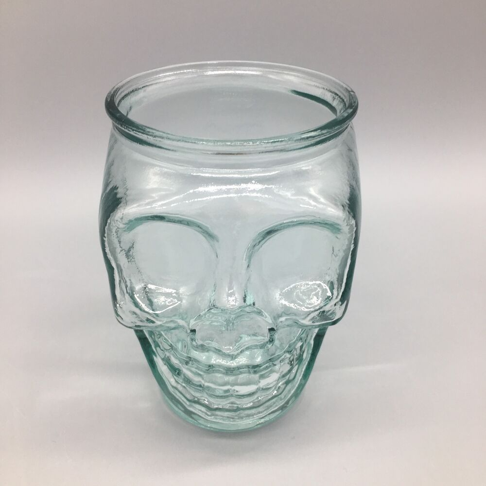 San Miguel Skull Authentic 100% Recycled Glass Halloween Gothic ...