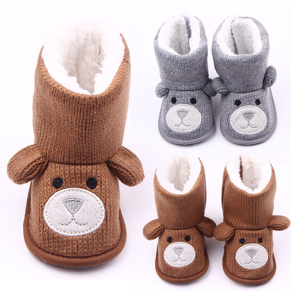 Infant Baby Boys Girls Winter Warm Booties Slippers Anti