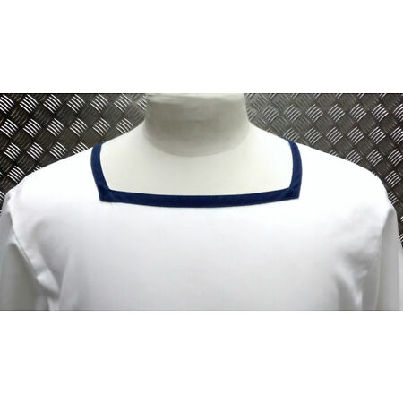 img-Genuine British Royal Navy Class 2 Sailor Square Neck Shirt White Mans or Womans