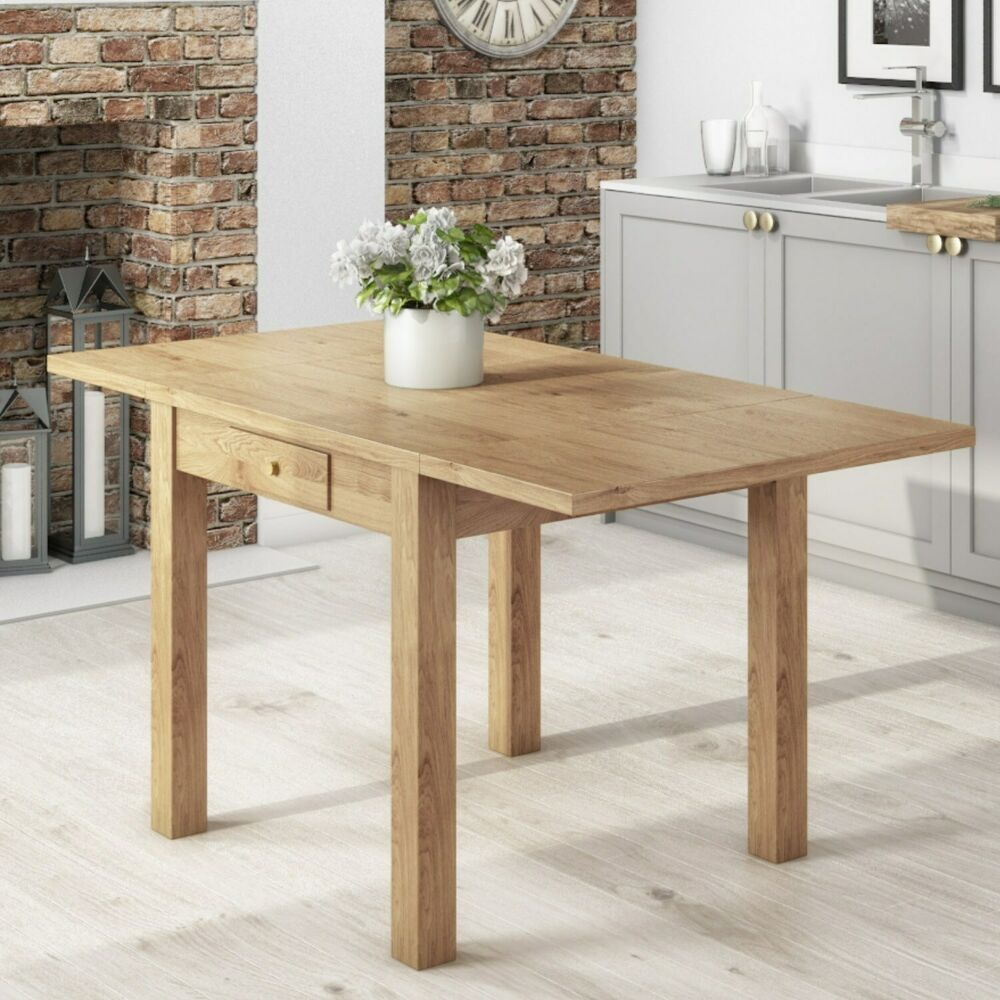 Solid Wood Kitchen Tables: Emerson Extendable Solid Wood Drop Leaf Dining Table