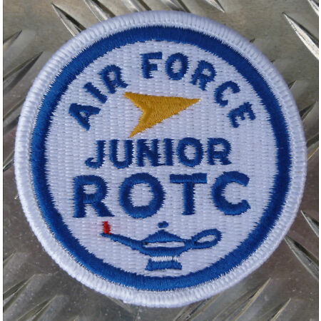 img-Genuine US Air Force USAF Junior ROTC / Military Iron-on Badge Patch - NEW