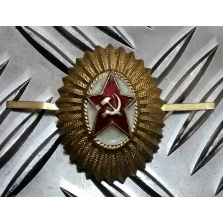 img-Genuine Russian USSR Soviet CCCP Red Army Metal Officer Cap Badge - NEW