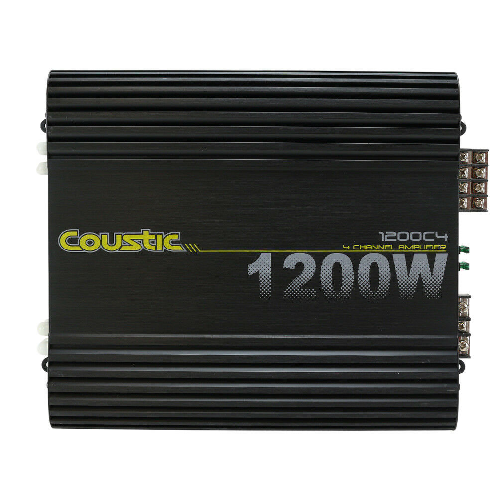 Coustic 1200C4 1200W Class-AB 4-Channel Car Audio Amplifier MTX Audio NEW |  eBay