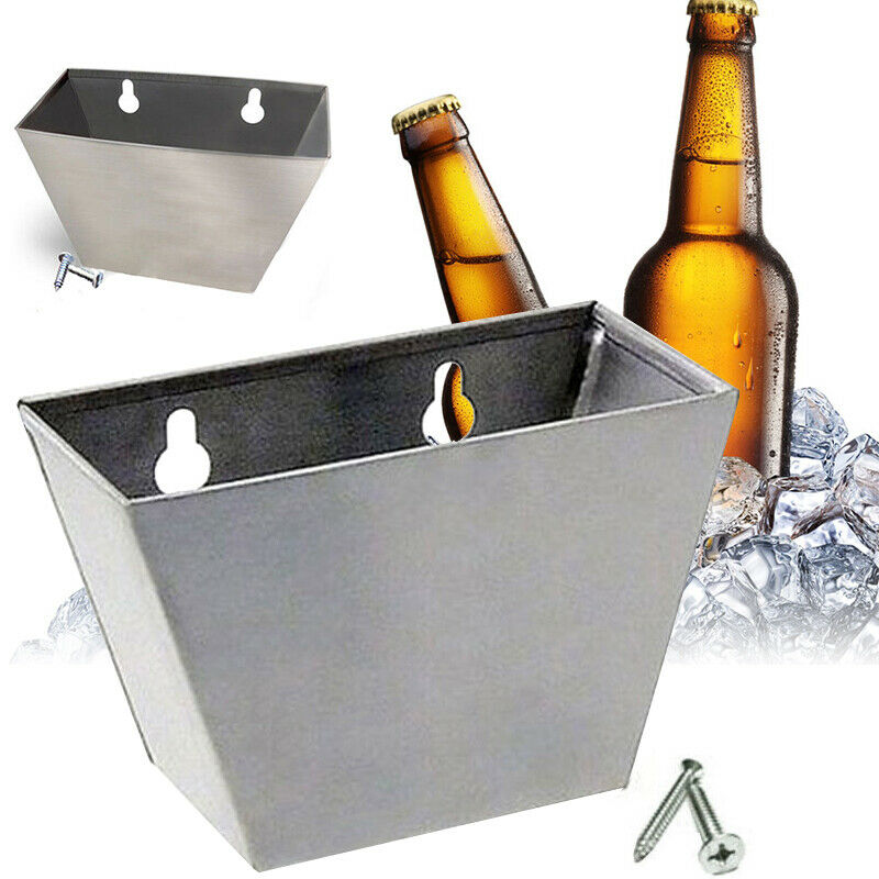 Bar Wall Mount Bottle Beer Opener Cap Stainless Steel Box