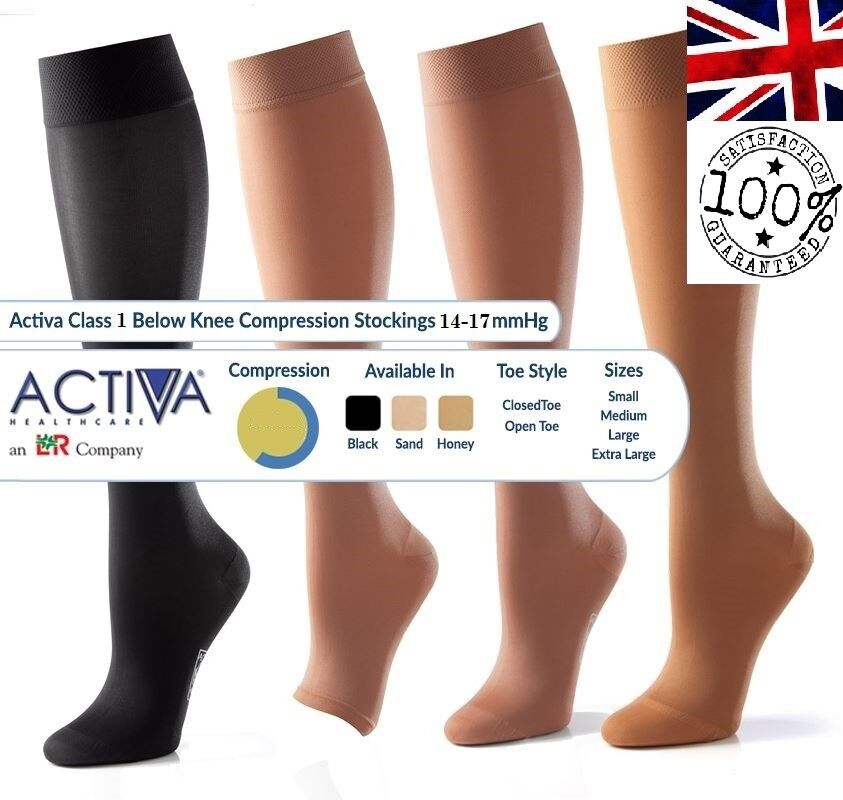 2063690a2a Activa Class 1 Compression Socks Below Knee Compression Hosiery | Select  Size | eBay
