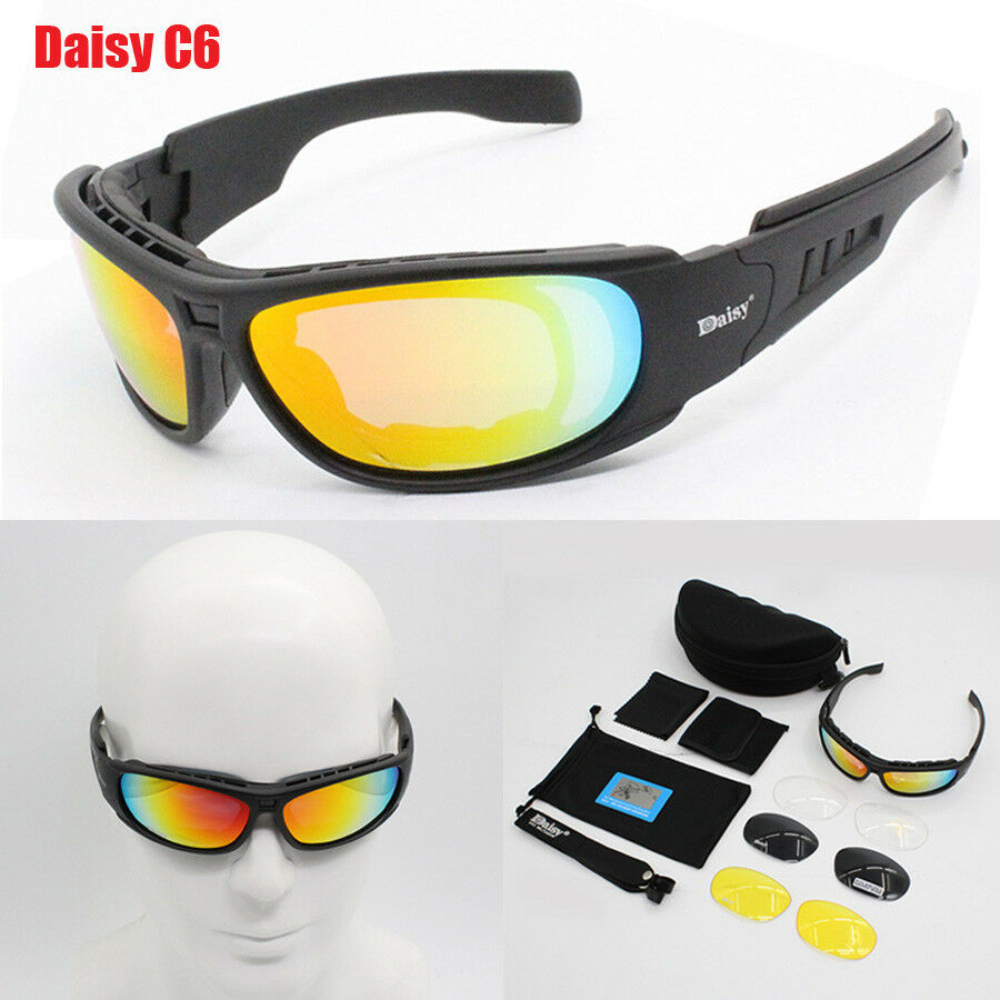 dd43408a7c Details about Men C6 Glasses Military Goggles Bullet-proof Army Polarized  Sunglasses