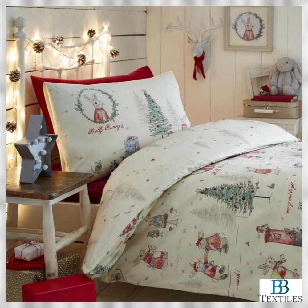 rosenthal no l hiver billy bunny mignon lapin parure de lit ebay. Black Bedroom Furniture Sets. Home Design Ideas