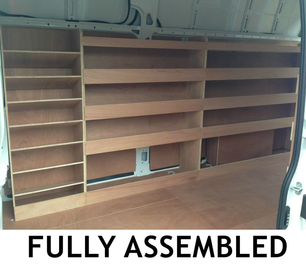 Ford Transit Lwb L3 Plywood Van Shelving Racking System