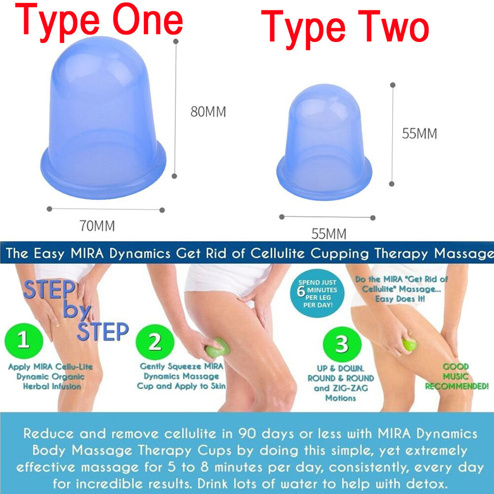 large vacuum silicone cup anti cellulite cupping medical full body massage kit ebay. Black Bedroom Furniture Sets. Home Design Ideas