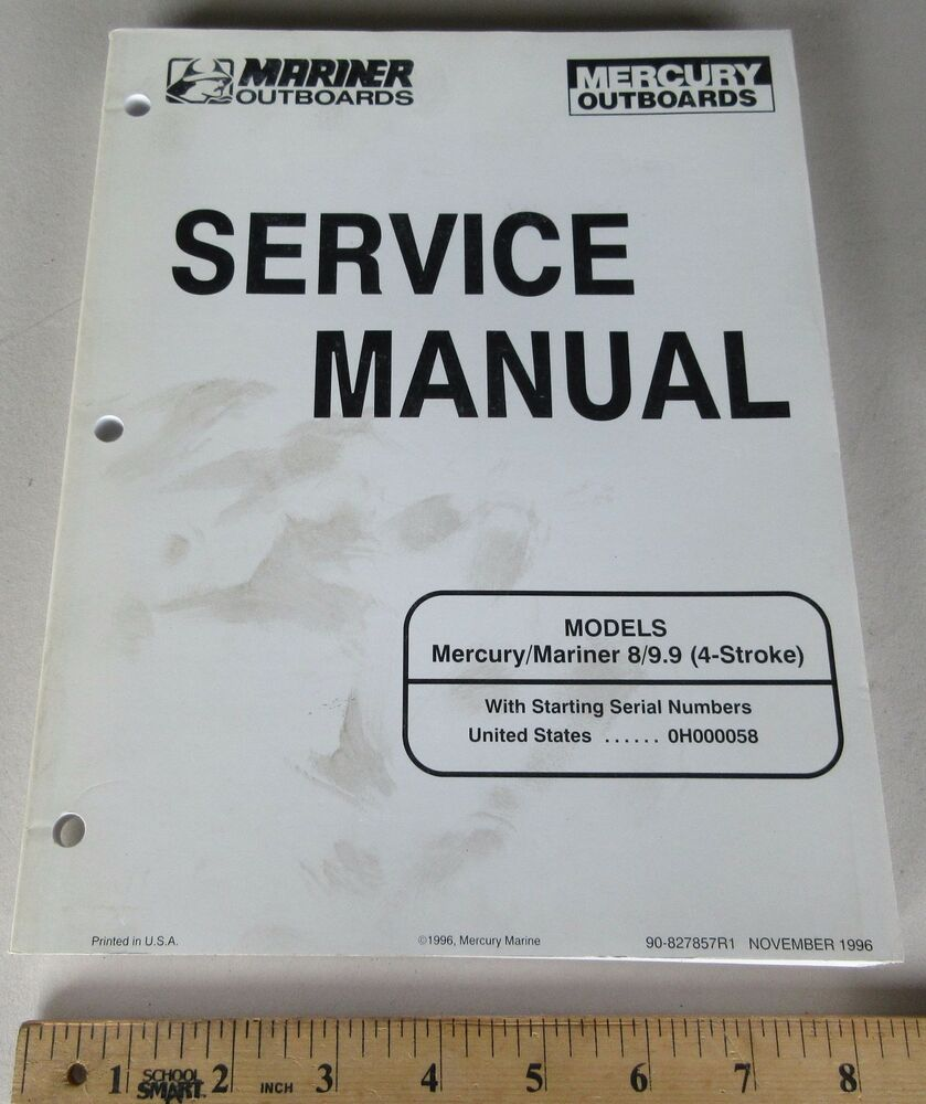 Mercury Mariner 8, 9.9 HP Outboard Boat Motor Service Repair Manual  827857R1 | eBay