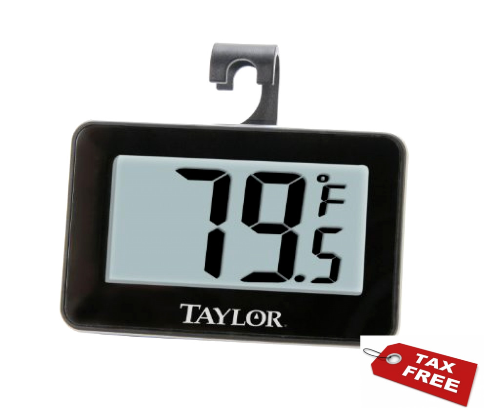 Taylor Precision Products Digital Refrigerator/Freezer Thermometer ...