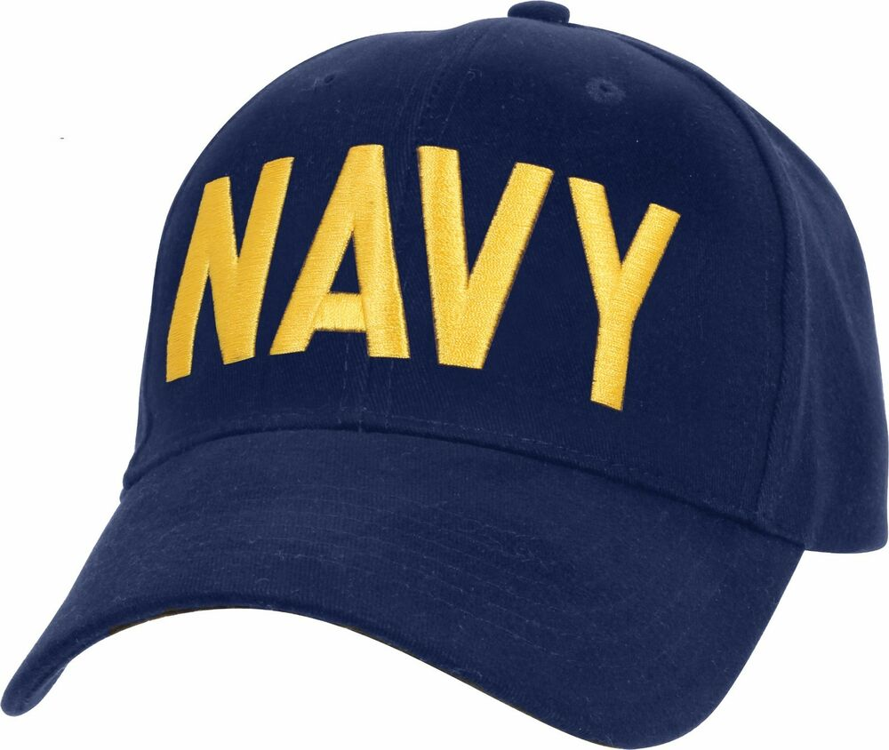 Navy Blue   Gold US Navy Hat Adjustable USN Embroidered Military Baseball  Cap 613902929005  4238c0a8298