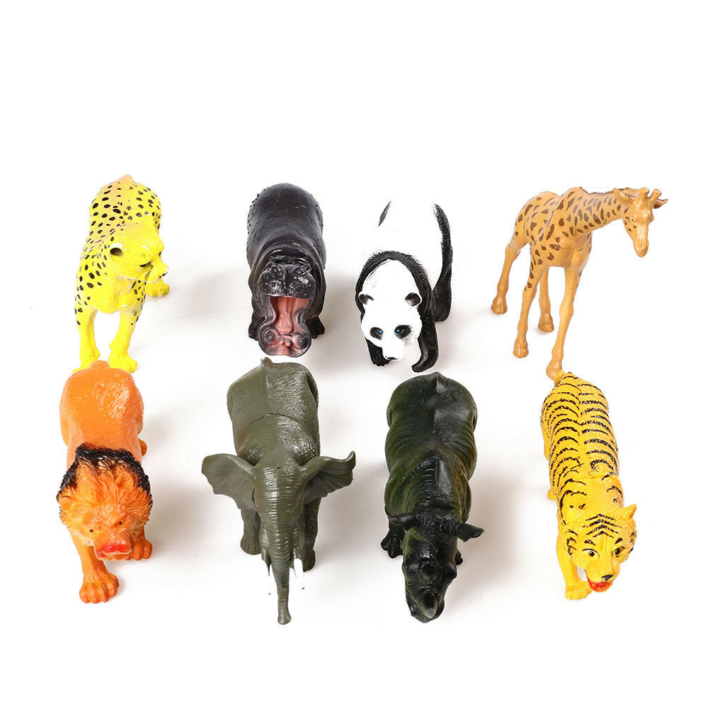 Mini Simulation Wild Animals Action Figures Kids Toys For