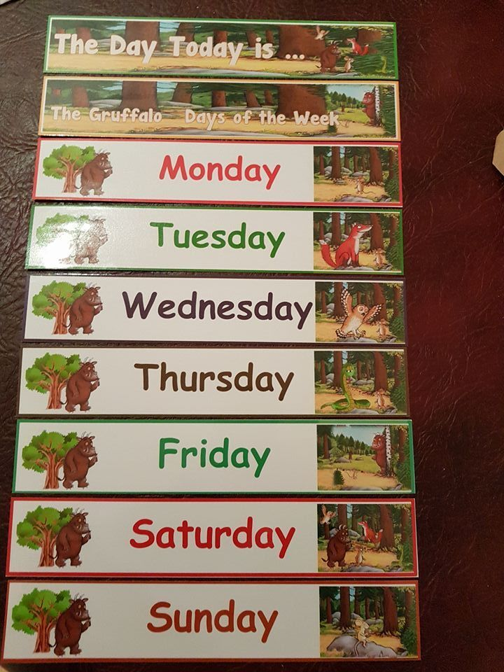 Days Of The Week The Gruffalo Teaching Resource Homeclassdisplay