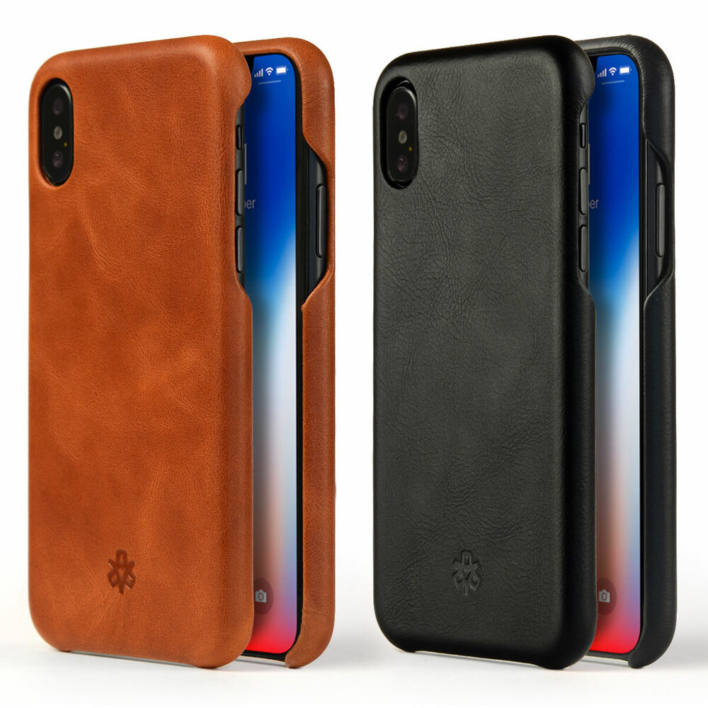 novada genuine leather back cover case for iphone x. Black Bedroom Furniture Sets. Home Design Ideas