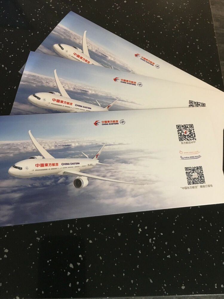 10 China Eastern Airlines Ticket Jackets Skyteam Boeing