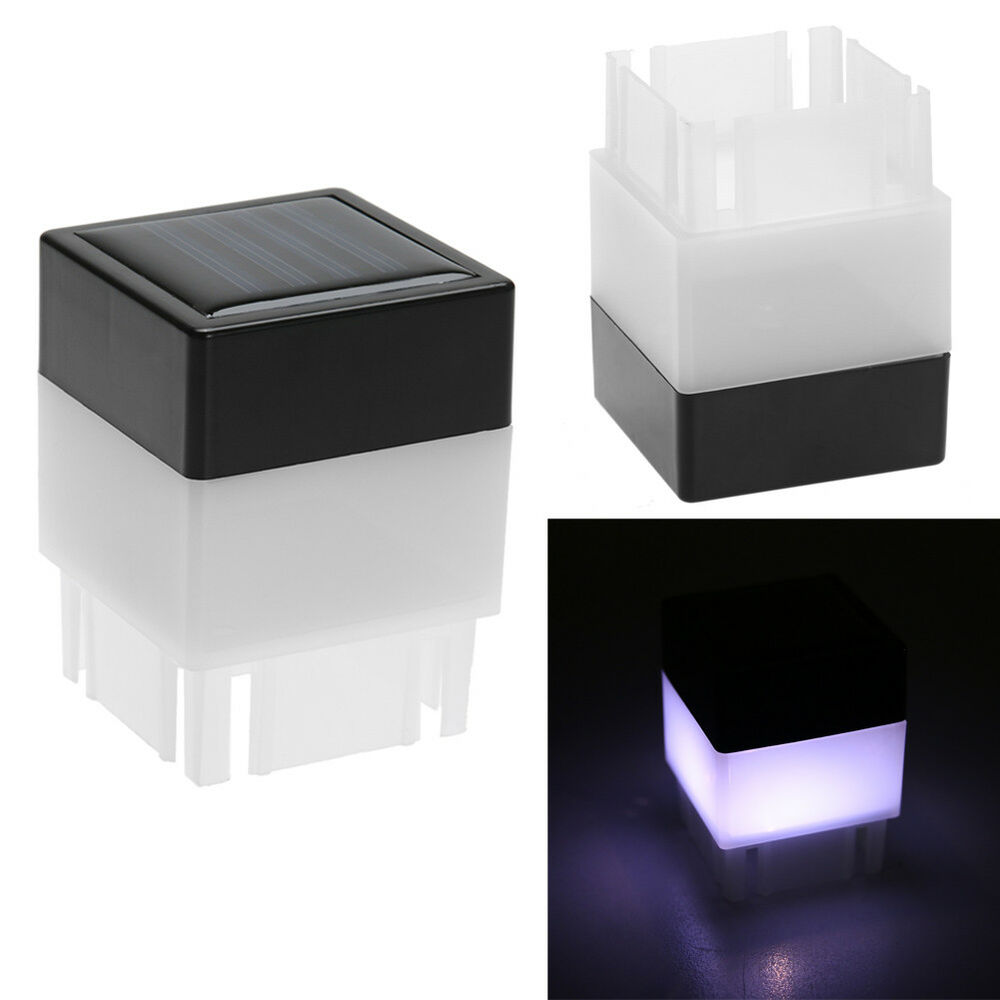Solar Powered Outdoor Led Square Fence Light Garden