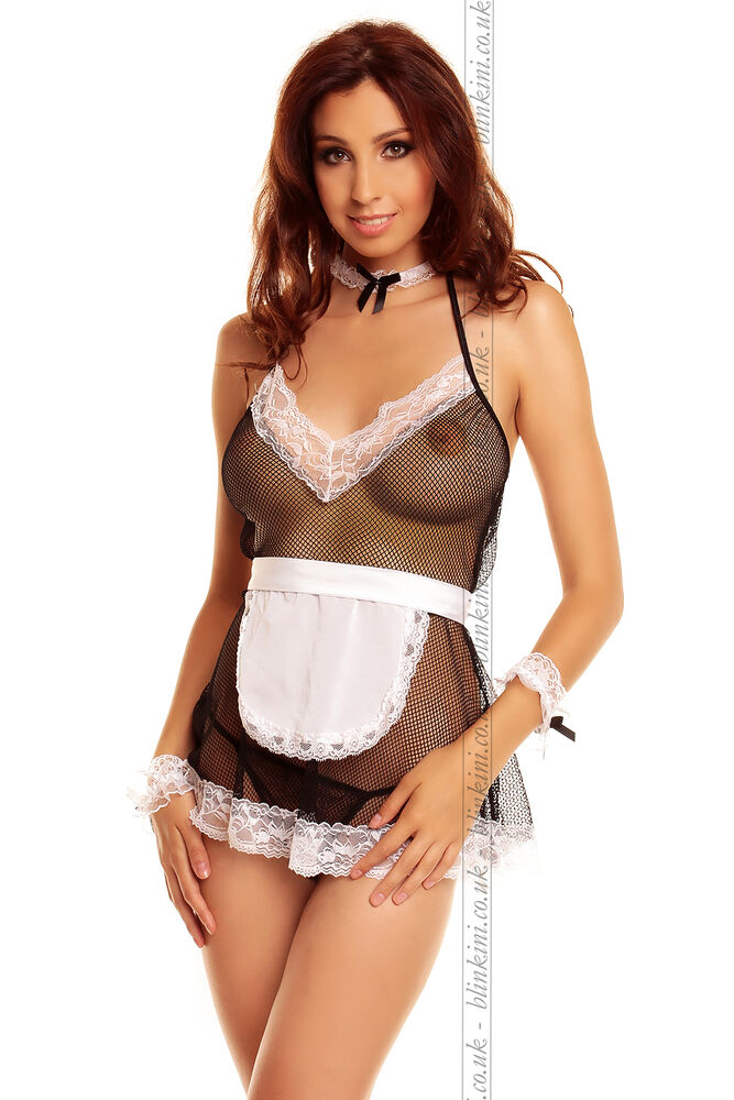 Sexy Maid Outfit French Maid Costume Uniform Role Play -7363