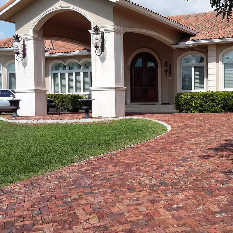Clay Brick Terracotta Driveway Old Chicago Paver Pool Deck