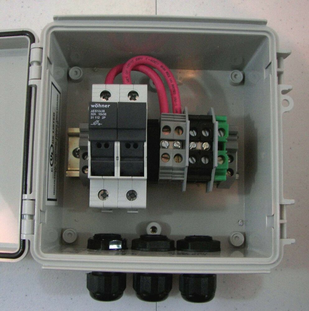 non fused disconnect wiring diagram solar panel combiner box - 2-string fused pv solar power ...
