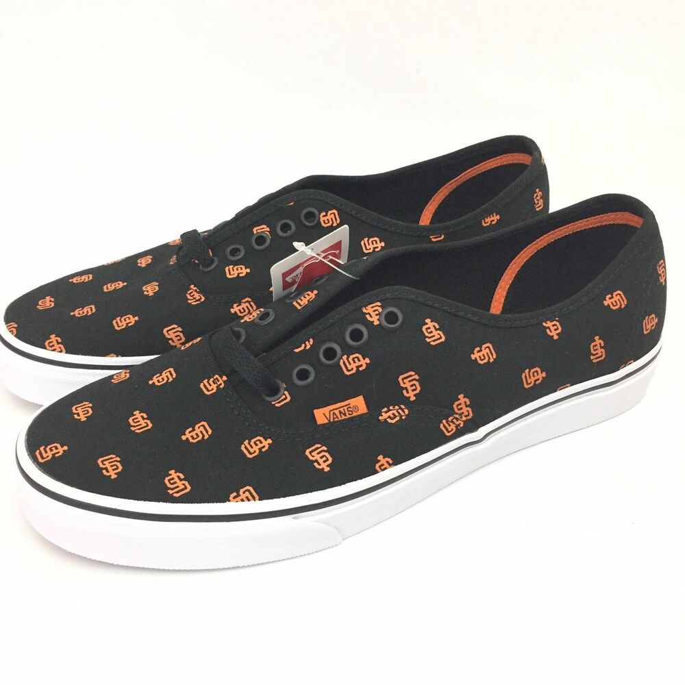 2090c7241c Details about Vans MLB San Francisco Giants Men 9.5 Women 11 Authentic  Black Baseball Sneakers