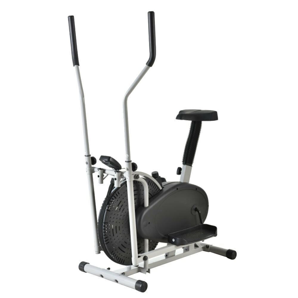 2 IN 1 Cross Elliptical Bike Indoor Exercise Trainer