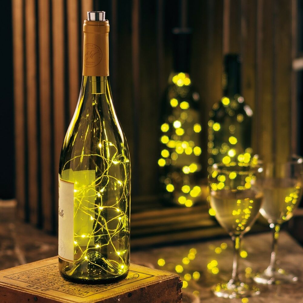 Wine Bottle Stopper Warm Led Fairy Lights 6 Hour Timer