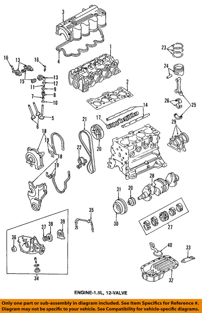 Hyundai Oem 9596 Accentengine Intake Valve 2221122003 Ebayrhebay: 2010 Hyundai Accent Engine Diagram At Gmaili.net