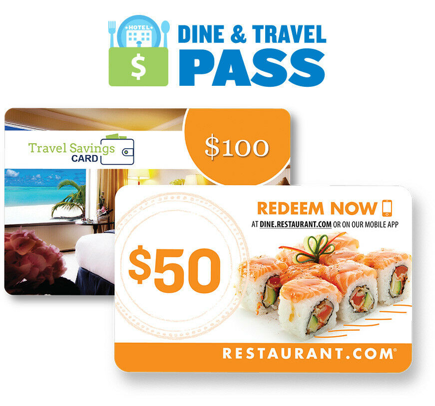 Restaurant.com $150 Dine and Travel Pass Gift Card | eBay