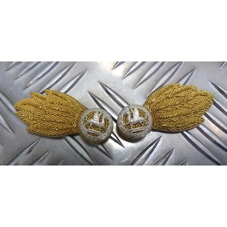 img-Genuine British Army Issue Royal Welsh Regiment No1 Mess Collar Badges 1 Pair