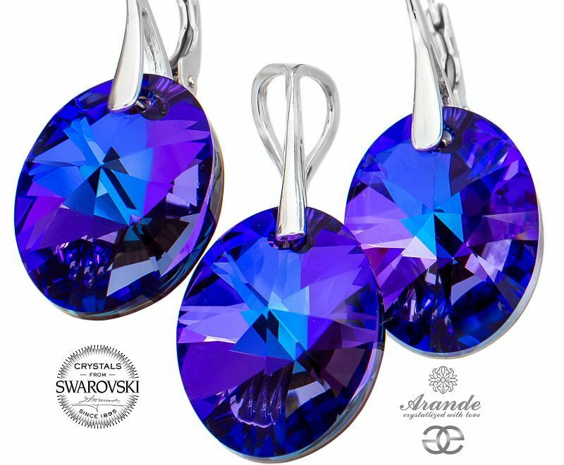 72e82400a Details about NEW SWAROVSKI CRYSTALS UNIQUE EARRINGS PENDANT HELIO STERLING  SILVER 925