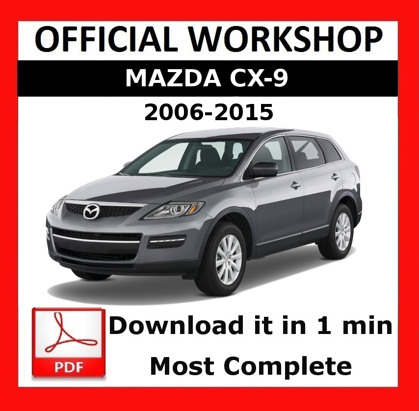 official workshop manual service repair mazda cx 9 2006 2015 ebay rh ebay co uk 2010 Mazda CX-9 service manual mazda cx-9