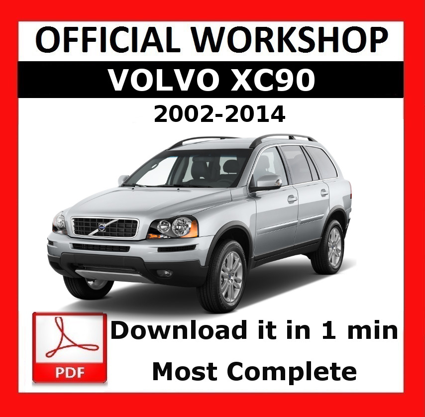 U0026gt  U0026gt  Official Workshop Manual Service Repair Volvo Xc90 2002