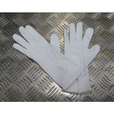 img-Genuine British Military 3 Dart White Cotton Parade Ceremonial Gloves All Sizes