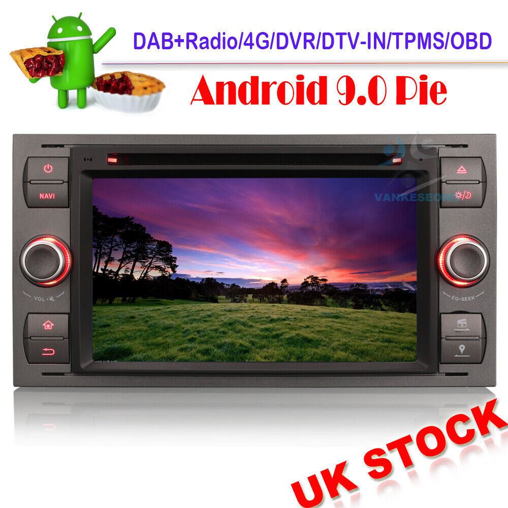 android 7 1 dab car radio dvd gps for ford mondeo focus c. Black Bedroom Furniture Sets. Home Design Ideas
