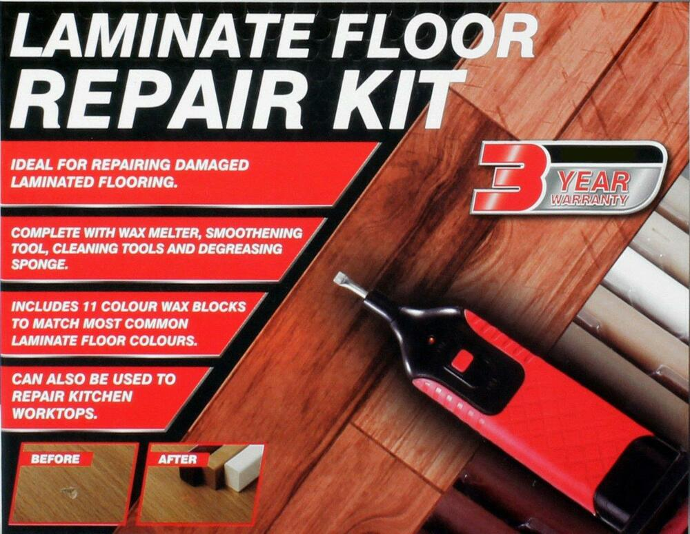 Dn Laminate Floor Worktop Repair Kit Wax System For Chips Dents Scratches 5055441422800