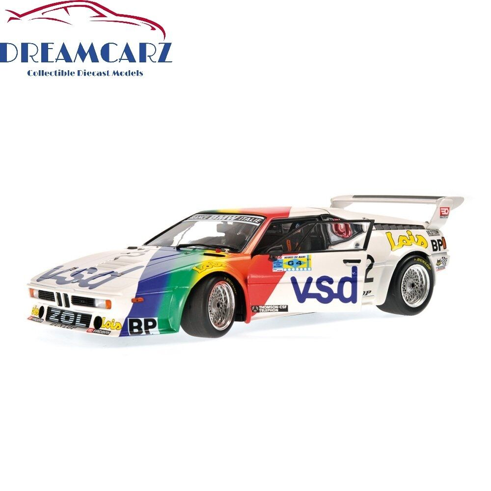 minichamps 180812972 1 18 bmw m1 procar 72 24h le mans 1981 4012138129641 ebay. Black Bedroom Furniture Sets. Home Design Ideas