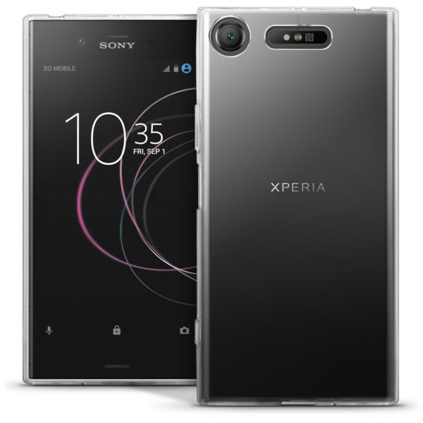 Glossy TPU Gel Case for Sony Xperia XZ1 Protective Gel Cover + Screen Protector