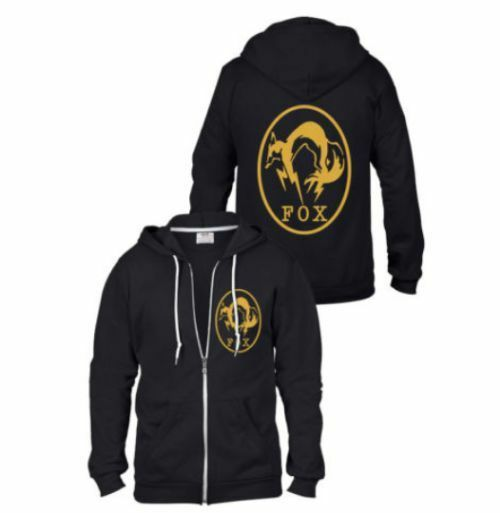Details about METAL GEAR SOLID 5 MGS SNAKE FOX XOF HOODED HOODIE SWEATSHIRT 3fa933c68