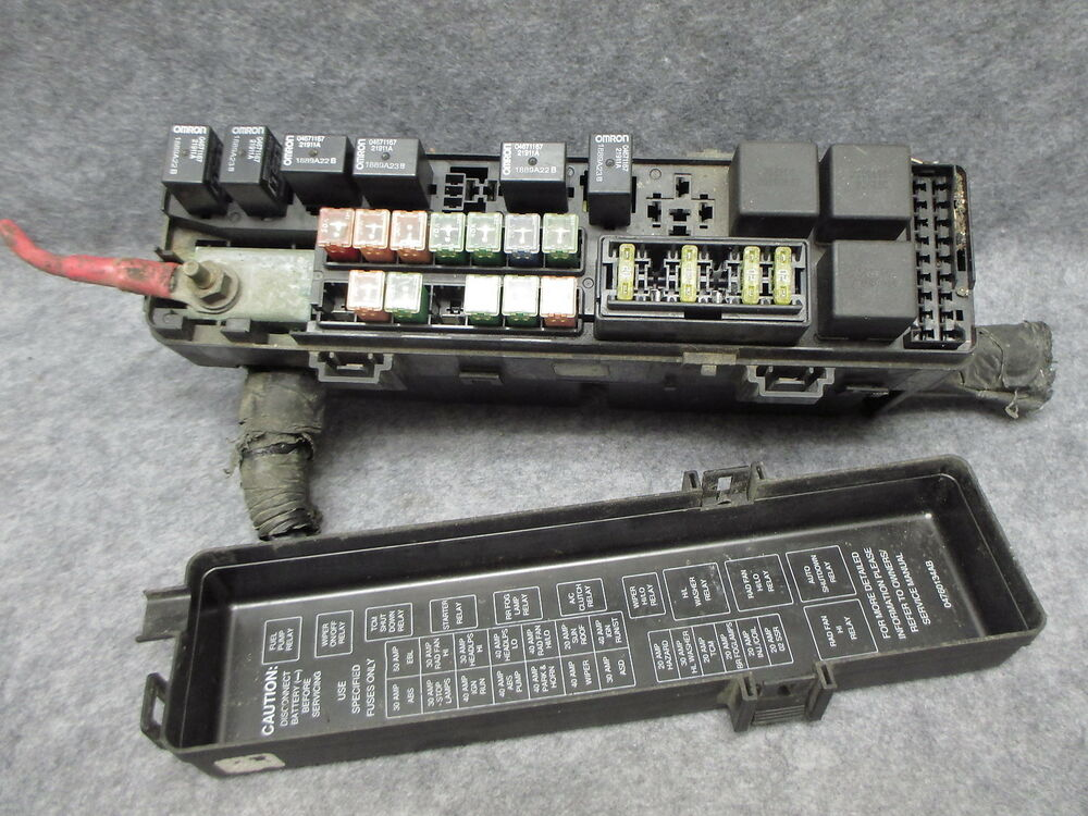 details about 2000 chrysler concorde & lhs 3 5 underhood main fuse box relay  center oem 21653