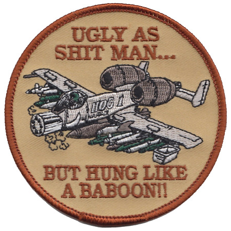 img-US Air Force A-10 Thunderbolt II Baboon Embroidered Patch ** LAST FEW **