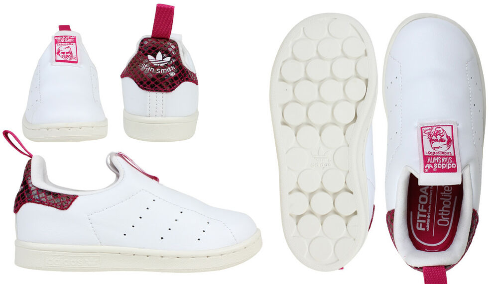 super popular 9cdde 6f440 ADIDAS GIRLS BOYS INFANT TODDLERS STAN SMITH 360 Trainers S32129 S32128    eBay
