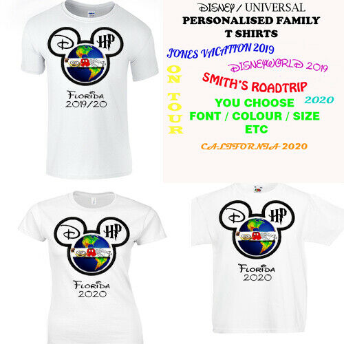 25064c55 Personalised Holiday T Shirt Ladies/Mens/Kids Disneyworld / Universal  Florida | eBay